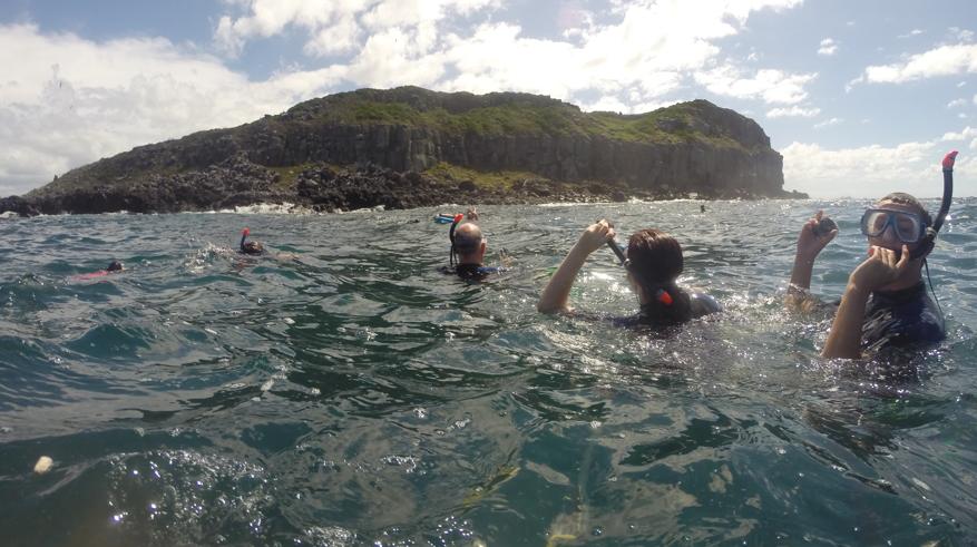 snorkelers Cook Island