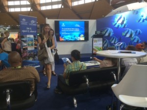 Citizen science was featured in the Eye on the Reef display